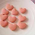 ピンクハートのクッキー