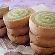 抹茶の渦巻きクッキー
